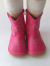 Toddler Boots - Squeaky Boots - Hot Pink Cowgirl Boots, Up to Toddler Size 7