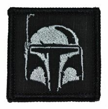 "Boba Fett Helmet - 2""x2"" Military Morale Funny Velcro Patch - Multiple Colors"
