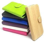 NEW PU LEATHER FLIP BOOK WALLET CASE COVER FOR SAMSUNG GALAXY MOBILE PHONES