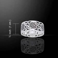 Complex Celtic Knotwork Sterling Silver Ring - Superbly Crafted