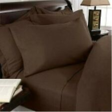 Bed Skirt 1-Piece Tailored Solid Chocolate 1000Thread Count Choose Desired Size