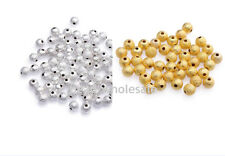 100-500pcs Silver&Golden Stardust Copper Ball Spacer Beads U Pick Size