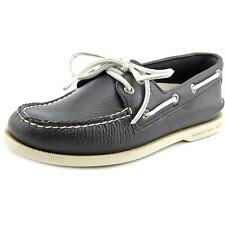 Sperry Top Sider A/O 2-Eye Mens Blue Boat Moc Leather Boat Shoes