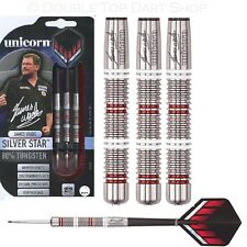 James Wade Silver Star 80% Tungsten Steel Tip Darts by Unicorn - Full Set