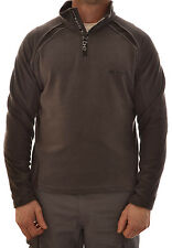 DARE2B GEOMETRIC MENS 1/4 ZIP FLEECE CARBON/BLACK SUPER SOFT DMA615