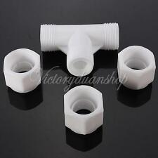 "1/2"" Water Pipe Fitting Elbow Tee Straight Inserts Coupling Coupler Connector"