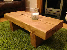 Coffee Table Solid English Oak Handmade Wooden Custom Sizes
