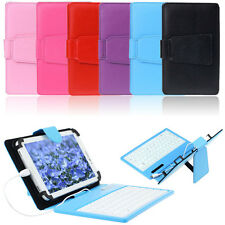 Cheap Leather Stand Case Cover with Micro USB Keyboard For 7 Inch Tablet PC
