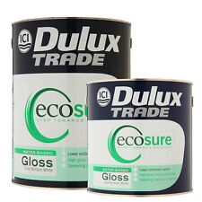 Dulux Trade Ecosure Gloss Pure Brilliant White 2.5L or 5 Litres *Tracked Postage