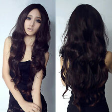 2016 Hot New Fashion Womens Lady Curly Wavy Long Hair Full Wigs Cosplay Party
