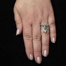 STERLING SILVER BAT RING SOLID .925 /NEW SIZE J-Y JEWELLERY