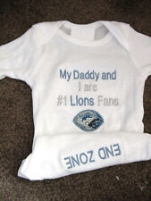 Detroit Lions Football NFL Baby Infant Newborn Boys Girls Bodysuit Creeper
