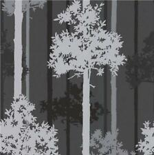 GRAHAM BROWN LUXURY NOTTINGHAM POISE METALLIC FOREST TREE 10M WALLPAPER ROLL B/S