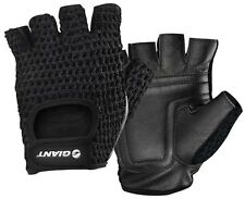 Giant Bicycle Classic Crochet Gloves with Leather Palm Black - 10478