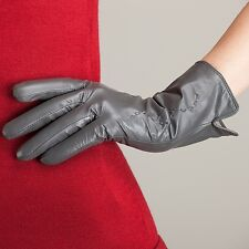 Women Lady's Winter lambskin Leather Warm driving Gloves Warm Lined new 7 Colors