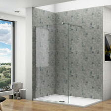 Walk in tall shower enclosure wet room screen panel cubicle 8mm easy clean glass