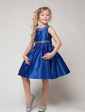 Flower Girls Fancy Royal Blue Dress Christmas Pageant Holidays Party Summer 1223