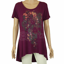 New Ladies Womens ex Marks & Spencer Mulberry Stretch Tunic Top