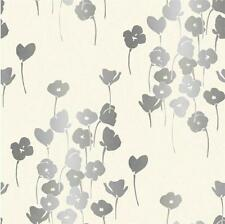 NEW WHITEWELL LUXURY REFLECTIONS FLORAL POPPY BLOSSOM 10M WALLPAPER ROLL W119043