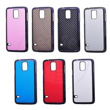 Luxury Carbon Fiber Rubberized Hard PC Case Cover for Samsung Galaxy S5 SV i9600