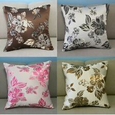 Cute Embroidery Flowers Camellia Sofa Decor Pillow Case Cushion Cover Square 18""