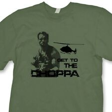 GET TO THE CHOPPA Funny T-shirt Arnold Predator Schwarzenegger Tee Shirt
