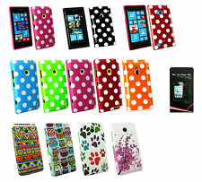 Polka Dots & Design Gel Case Cover for Nokia Lumia & ScreenGuard - Lot Available