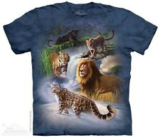 THE MOUNTAIN GLOBAL CATS TIGER LION LEOPARD JAGUAR YOUTH KIDS TEE T SHIRT S-XL