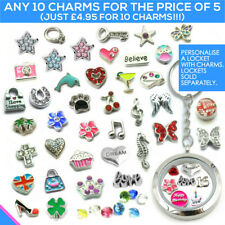 CHARMS Living Memory Locket Necklace Pendant Floating Charm Costume Jewellery