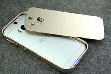 LUXURY Ultra-thin All Metal Aluminum Case Back Cover Bumper for HTC One M8 2014