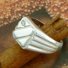 STERLING SILVER RING WITH STONES SOLID .925 /NEW  JEWELLERY SIZE J - U