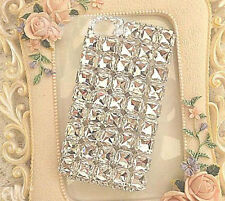 Luxury Bling Square Clear diamond crystal case cover for iphone6 plus 5s 5c 4 fz