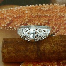 STERLING SILVER FLORAL RING SOLID.925 /NEW JEWELLERY SIZE J - U