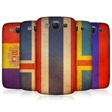 HEAD CASE DESIGNS VINTAGE FLAGS SET 4 BACK CASE FOR SAMSUNG GALAXY S3 III I9300