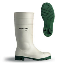 Dunlop Protomastor Safety Welly White Wellington Boot Wellies 3-13 Waterproof