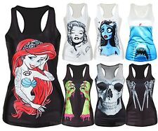 WOMEN'S SUMMER TANK TOP / RETRO PUNK DARK GOTH VINTAGE / MORE INSIDE!!