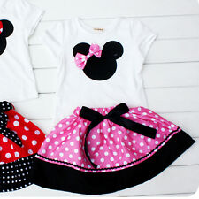 Infant Baby Toddler Girls Minnie Mouse Polka Dot Outfit Skirt Short Mix & Match