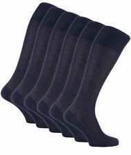 6 Pairs Mens long Italian Pure Cotton Compression Socks All Sizes Navy Blue