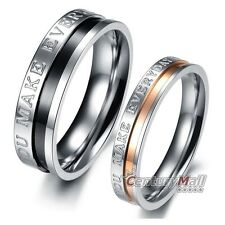 Titanium Rings Stainless Steel Lover Engagement Wedding Set Band Matching DF1063