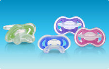 NEW Nuby Natural Touch Gum-eez First Teether Step 1 Front Teeth Pacifier 2-Pack