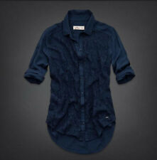 NWT Hollister by Abercrombie Womens EL MORRO LACE FRONT SHIRT