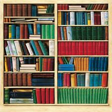 Bookcase effect wallpaper ebay for Bookcase wallpaper mural