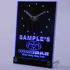 tncp-tm Home Bar Personalized Bar Pub Kitchen Decor Neon Led Table Clock
