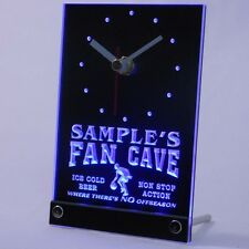 tnctd-tm Personalized Basketball Fan Cave Man Room Bar Neon Led Table Clock