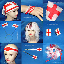 *BOGOF* ENGLAND ST GEORGE FLAG FOOTBALL SUPPORTERS FUN GIFTS THEME PARTY NOVELTY