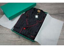 Avi Rossini £1,100 Handmade Black Silk Pyjamas Set Boxed