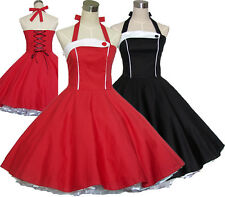 Women's Vintage Retro Dancing Party Swing Jive Rockabilly Dresses Skirts 50s 60s
