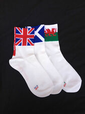 On Yer Toes Long Cycling Socks, Flag Design, Great Britain, Wales, Scotland