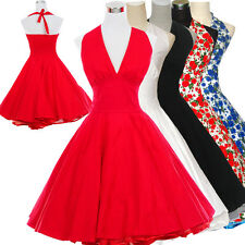 Vintage Retro Dancing Party Ball Swing Jive Rockabilly Skirt 50s 60s Dress Polka