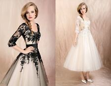 hot sale black  lace formal dress evening dress/bridesmaid dress in stock 6--16